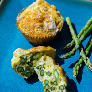 Asparagus and Cheese Frittata Muffins