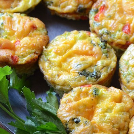 Broccoli and Red Pepper Egg Muffins