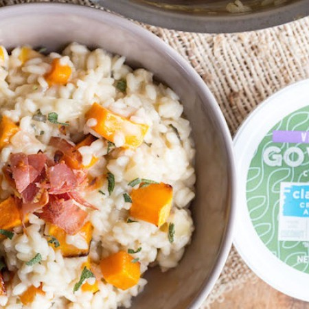 Butternut Squah Risotto with Crispy Pancetta