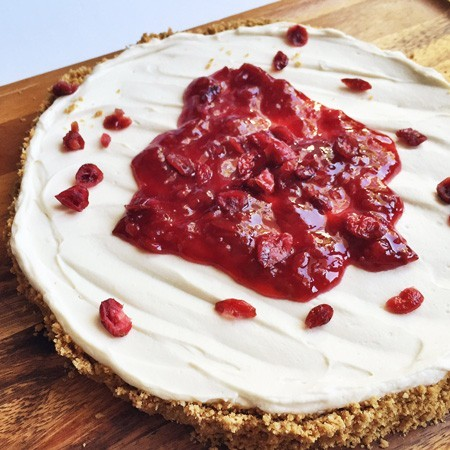 Cranberry No Bake Cheesecake