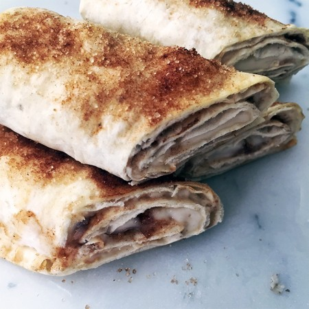Cinnamon Sugar Cream Cheese Roll-Ups