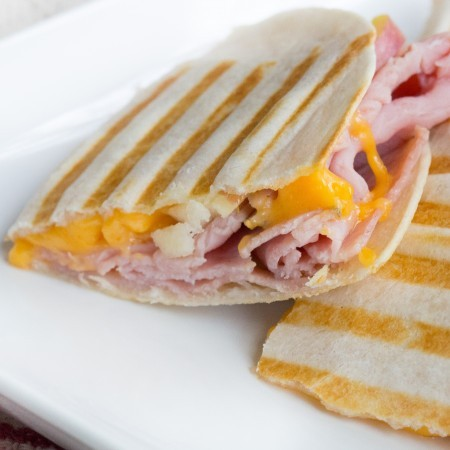 Ham Cheddar and Apple Quesadillas