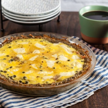 Salami and Swiss Quiche