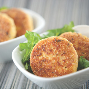Cornmeal and Herb-Crusted Tofu Feta Croquettes (gluten-free)