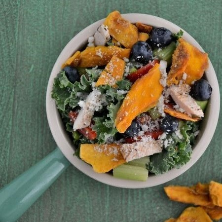 Summertime Mango Chicken Salad with Blueberries