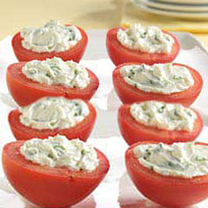 GO Veggie! Dairy Free Chive & Garlic Cream Cheese Alternative Stuffed Cherry Tomatoes