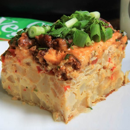 Slow Cooker Chorizo Breakfast Casserole