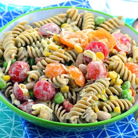 Summery pasta salad