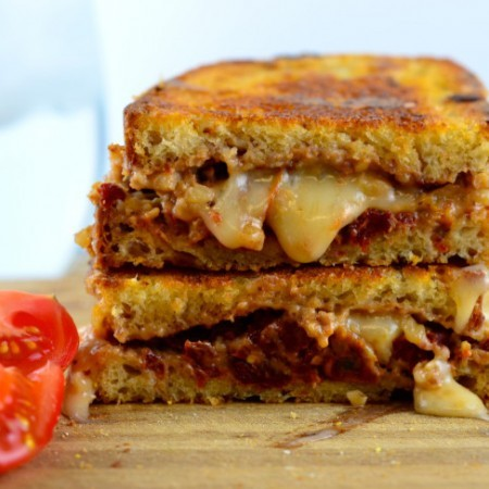Walnut, Sun Dried Tomato & Basil Grilled Cheese Sandwich