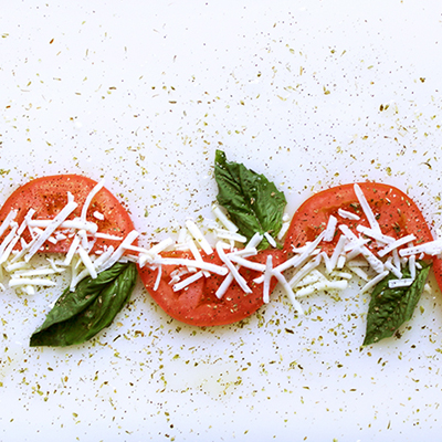 Baked Tomato with Mozzarella Cheese