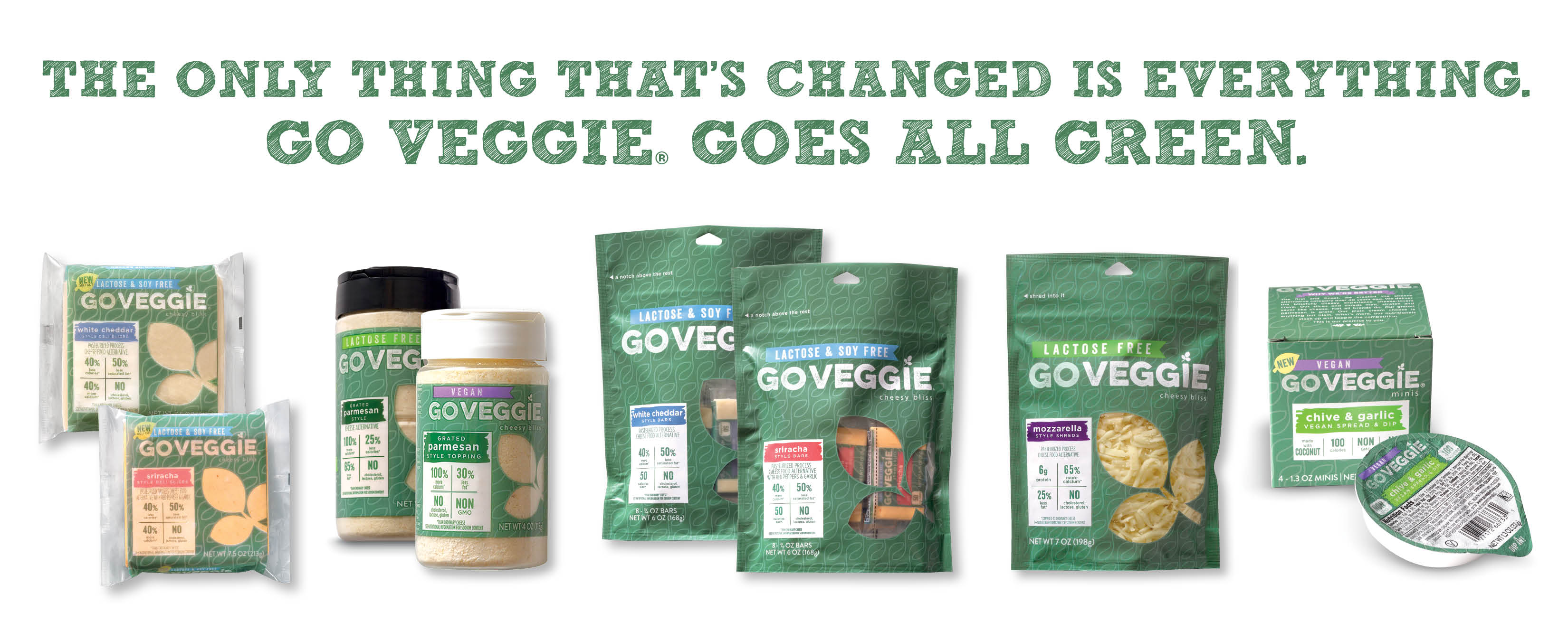 The Only Thing That's Changed is Everything: GO VEGGIE® Brand Goes All Green